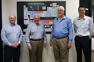 Jerry Sanders visits Quantum Design on behalf of the San Diego Chamber of Commerce